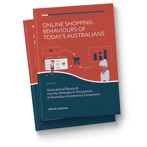 Mockup of free research report into the online shopping behaviours of today's Australians
